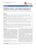"""báo cáo hóa học:""""  Validation study of a web-based assessment of functional recovery after radical prostatectomy"""""""
