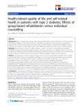 "báo cáo hóa học:""  Health-related quality of life and self-related health in patients with type 2 diabetes: Effects of group-based rehabilitation versus individual counselling"""