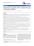 "báo cáo hóa học:""  Determinants of quality of life in adults with type 1 and type 2 diabetes"""