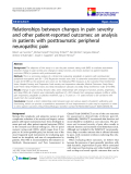 "báo cáo hóa học:""  Relationships between changes in pain severity and other patient-reported outcomes: an analysis in patients with posttraumatic peripheral neuropathic pain"""