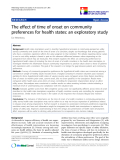 """báo cáo hóa học:""""  The effect of time of onset on community preferences for health states: an exploratory study"""""""