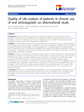 "báo cáo hóa học:"" Quality of Life analysis of patients in chronic use of oral anticoagulant: an observational study"""