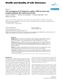 Health and Quality of Life Outcomes BioMed Central  Research  Open Access  The management of