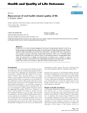 Health and Quality of Life Outcomes BioMed Central  Review  Open Access  Assessment of oral health