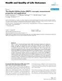 Health and Quality of Life Outcomes BioMed Central  Review  Open Access  The Health Utilities Index
