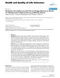 Health and Quality of Life Outcomes BioMed Central  Research  Open Access  Medication Use by Persons