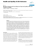 Health and Quality of Life Outcomes BioMed Central  Review  Open Access  Benefits of psychosocial