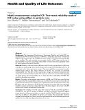 "báo cáo hóa học:"" Health measurement using the ICF: Test-retest reliability study of ICF codes and qualifiers in geriatric care"""