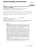 """báo cáo hóa học:""""  Validation of a patient satisfaction questionnaire for anemia treatment, the PSQ-An"""""""