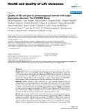 "báo cáo hóa học:"" Quality of life and pain in premenopausal women with major depressive disorder: The POWER Study"""