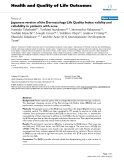 """báo cáo hóa học:"""" Japanese version of the Dermatology Life Quality Index: validity and reliability in patients with acne"""""""