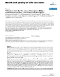 "báo cáo hóa học:"" Validation of the Burden Index of Caregivers (BIC), a multidimensional short care burden scale from Japan"""
