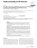 """báo cáo hóa học:"""" The effect of inpatient rehabilitation programmes on quality of life in patients with cystic fibrosis: A multi-center study"""""""