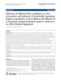 "Báo cáo toán học: "" Influence of different flow conditions on the occurrence and behavior of potentially hazardous organic xenobiotics in the influent and effluent of a municipal sewage treatment plant in Germany: an effect-directed approach"""