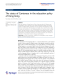 "Báo cáo toán học: "" The status of Cantonese in the education policy of Hong Kong"""