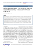 """Báo cáo toán học: """" Performance analysis of low-complexity dual-cell random beamforming transmission with user scheduling"""""""