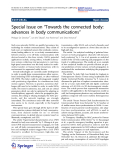"""Báo cáo toán học: """"  Special issue on """"Towards the connected body: advances in body communications"""""""""""