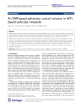 "Báo cáo toán học: ""  An SNR-based admission control scheme in WiFibased vehicular networks"""