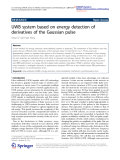 "Báo cáo toán học: "" UWB system based on energy detection of derivatives of the Gaussian pulse"""