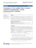 """Báo cáo toán học: """" Convergence of the modified Mann's iterative method for asymptotically -strictly pseudocontractive mappings"""""""