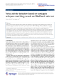 """Báo cáo toán học: """" Voice activity detection based on conjugate subspace matching pursuit and likelihood ratio test"""""""