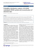 "Báo cáo toán học: ""  Probability distribution analysis of M-QAMmodulated OFDM symbol and reconstruction of distorted data"""