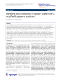 "Báo cáo toán học: "" Transient noise reduction in speech signal with a modified long-term predictor"""