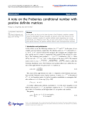 "Báo cáo hóa học: ""  A note on the Frobenius conditional number with positive definite matrices"""