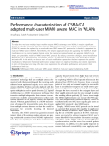 "Báo cáo hóa học: ""Performance characterization of CSMA/CA adapted multi-user MIMO aware MAC in WLANs"""