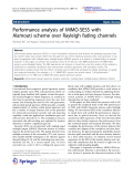 "Báo cáo hóa học: "" Performance analysis of MIMO-SESS with Alamouti scheme over Rayleigh fading channels"""