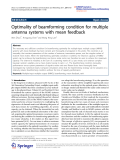 """Báo cáo hóa học: """"   Optimality of beamforming condition for multiple antenna systems with mean feedback"""""""