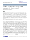 "Báo cáo hóa học: ""   Feedback-based adaptive network coded cooperation for wireless networks"""