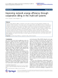 """Báo cáo hóa học: """"   Improving network energy efficiency through cooperative idling in the multi-cell systems"""""""