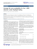 "Báo cáo hóa học: ""  Average bit error probability for the l-MRC detector under Rayleigh fading"""