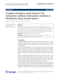"""Báo cáo hóa học: """"   Coupled coincidence point theorems for contractions without commutative condition in intuitionistic fuzzy normed spaces"""""""