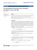 "Báo cáo hóa học: ""  On generalized Srivastava-Owa fractional operators in the unit disk"""