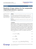 "Báo cáo hóa học: "" Regularity of large solutions for the compressible magnetohydrodynamic equations"""