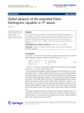 """Báo cáo hóa học: """"  Global attractor of the extended FisherKolmogorov equation in Hk spaces"""""""