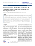"""Báo cáo hóa học: """"  Procedure for the steady-state verification of modulation-based noise reduction systems in hearing instruments"""""""