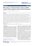 "Báo cáo hóa học: ""  BER analysis of TDD downlink multiuser MIMO systems with imperfect channel state information"""
