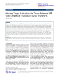 "Báo cáo hóa học: ""   Moving Target Indication via Three-Antenna SAR with Simplified Fractional Fourier Transform"""