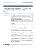 "Báo cáo hóa học: ""   Schur convexity for the ratios of the Hamy and generalized Hamy symmetric functions Wei-Mao Qian"""