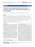 "Báo cáo hóa học: ""   An enhanced weighted performance-based handover parameter optimization algorithm for LTE networks"""