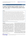 """Báo cáo hóa học: """"   A study of artificial speech quality assessors of VoIP calls subject to limited bursty packet losses"""""""