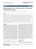 """Báo cáo hóa học: """"  Erythropoietin in the intensive care unit: beyond treatment of anemia"""""""