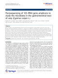 "Báo cáo hóa học: "" Pyrosequencing of 16S rRNA gene amplicons to study the microbiota in the gastrointestinal tract of carp (Cyprinus carpio L.)"""