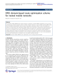 "Báo cáo hóa học: ""DRO: domain-based route optimization scheme for nested mobile networks"""