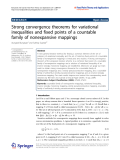 """Báo cáo hóa học: """"Strong convergence theorems for variational inequalities and fixed points of a countable family of nonexpansive mappings"""""""