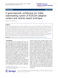 "báo cáo hóa học: ""  A game-theoretic architecture for visible watermarking system of ACOCOA (adaptive content and contrast aware) technique"""