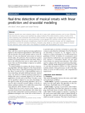 """báo cáo hóa học: """"  Real-time detection of musical onsets with linear prediction and sinusoidal modeling"""""""